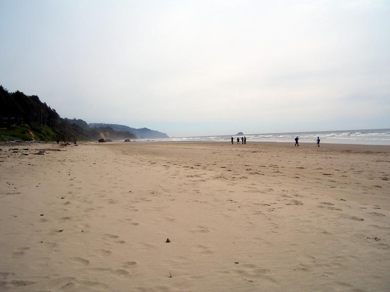 Der Strand von Cannon Beach.