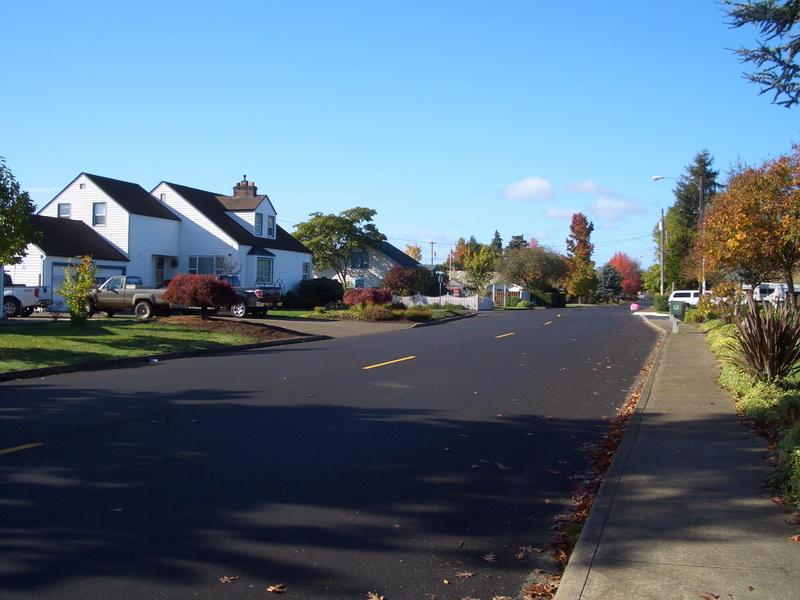 Die Straße in der ich wohne.