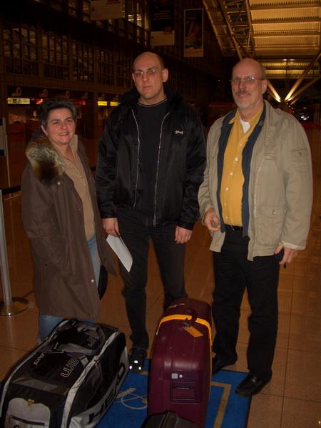 Beim Checkin am Hamburger Flughafen