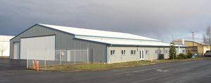 Der neue Flugzeug Hangar mit unserem Büro